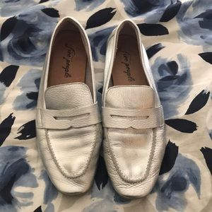 Free People Silver Loafers